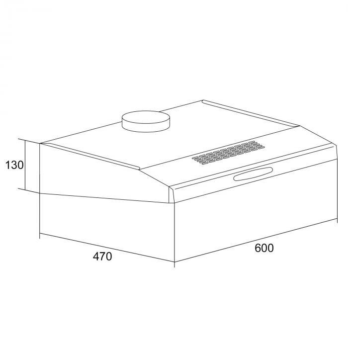 uw60sf dunstabzugshaube edelstahl 60cm abzug unterbau 165 m h klarstein. Black Bedroom Furniture Sets. Home Design Ideas