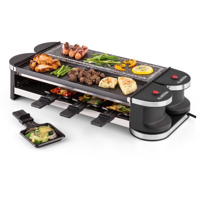 tenderloin 50 50 raclette grill 1200w 8 personen. Black Bedroom Furniture Sets. Home Design Ideas